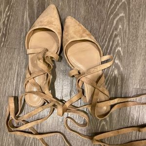 Nude Pink | BCBG | Tie Up | Flat Shoe | Worn Once